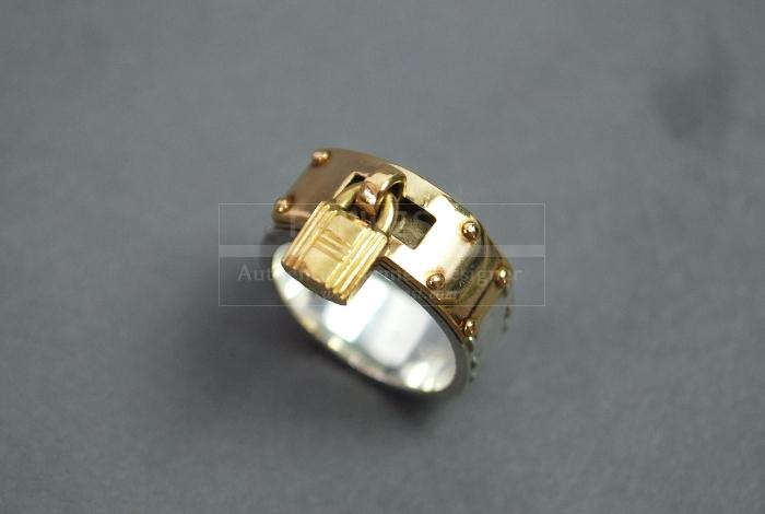 Authentic Hermes kelly Sterling Silver 925 Ring Size 51 Us 55