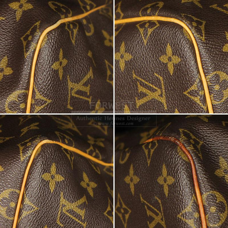 Authentic Louis Vuitton Monogram Keepall 55 Very Good Cond