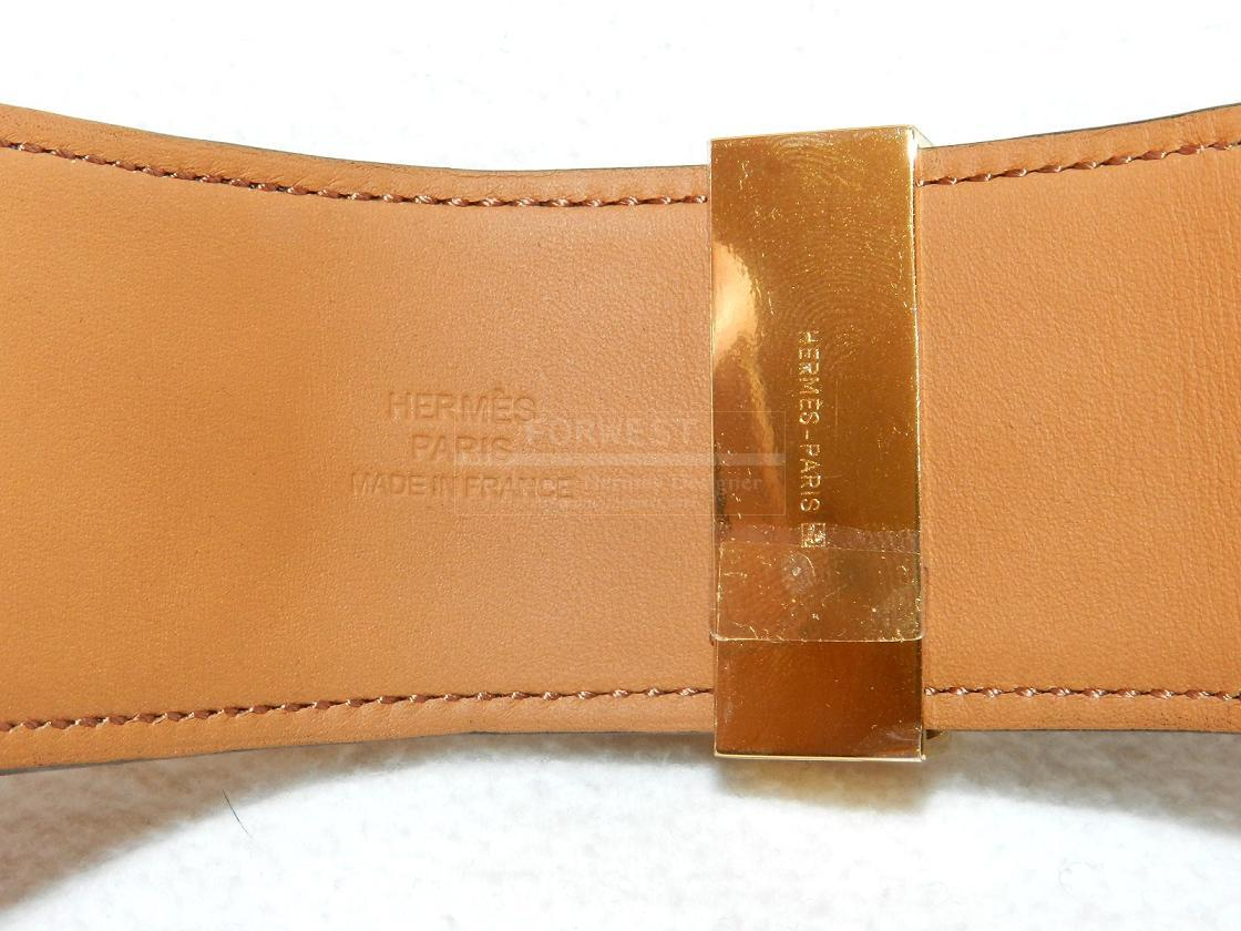 Authentic Rare Hermes Collier De Chien Chocolate Brown Gold Hw