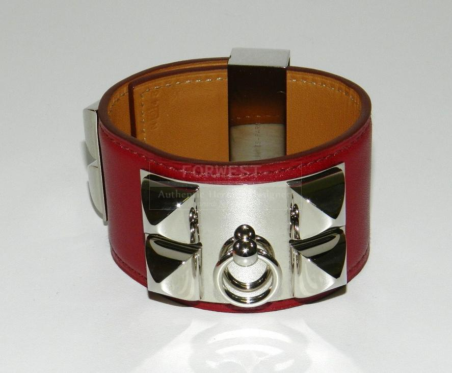 Authentic Rare Hermes Rubis Collier De Chien Bracelet