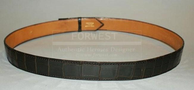 Authentic Vintage Hermes Cocoan Crocodile Belt