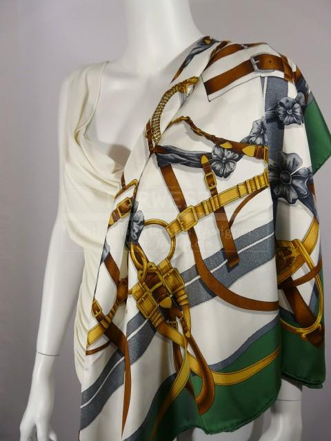Authentic Vintage Hermes Silk Scarf Grand Manege Excellent