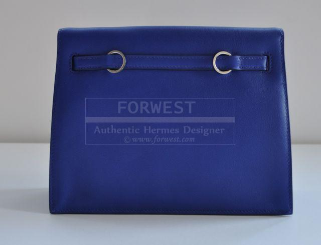 Authentic and Rare Hermes Kelly Danse Electric Blue Swift Palladium