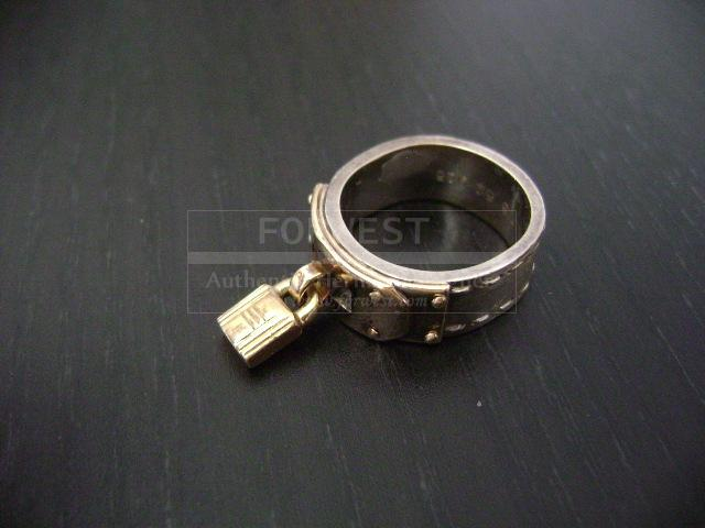Hermes 2 Tone 925 Kelly Lock Ring Us Size 5 3 4