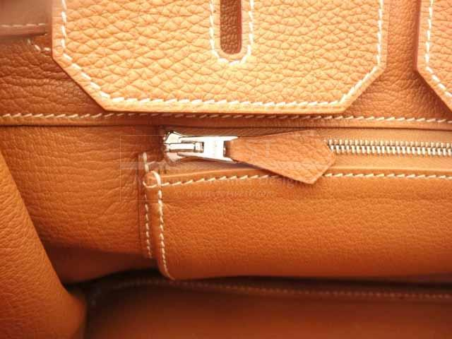 Hermes 35cm Birkin Stamp M Gold Togo In Palladium