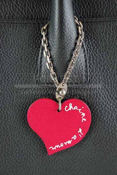 Hermes Bicolor Raspberry Orange Valentine Heart Keyring Bag Charm