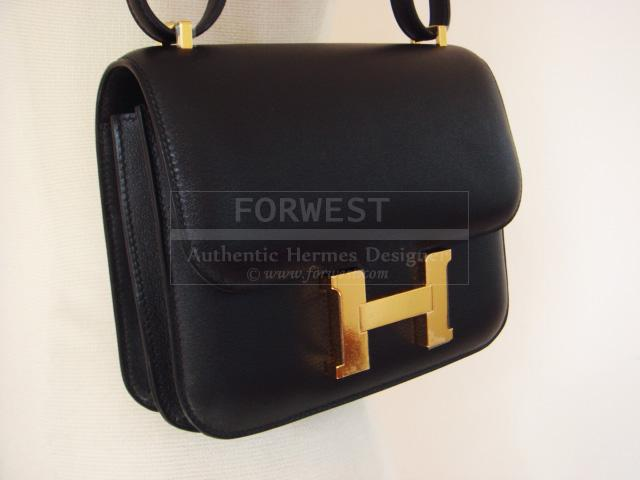 Hermes Black Constance Bag Gold Hardware Ghw New In Box Authentic