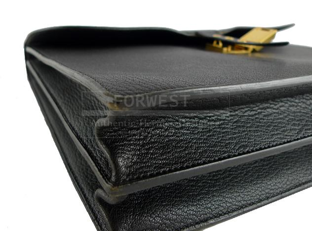 Hermes Black Coromandel Sac A Depeche 38 Briefcase Laptop Bag