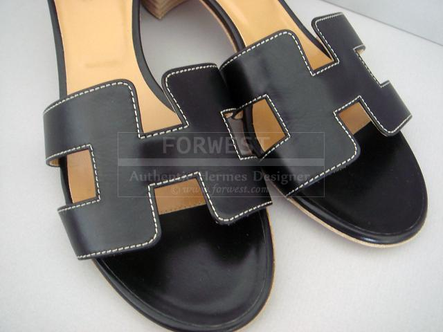 hermes wallet price - Hermes Black Oasis H Sandals Oran Heel Shoes Box Leather Nib Auth ...