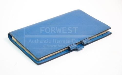 Hermes Blue Vision Agenda Cover Day Planner With 2012 Calendar