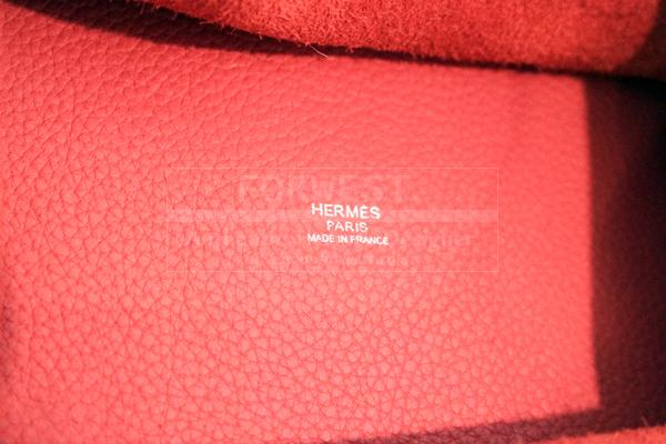 Hermes Bougainvillea Clemence Leather Picotin Lock Bag
