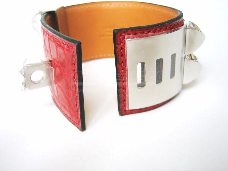 Hermes Bracelet Collier De Chien Cdc Red Rouge H Phw Bnib