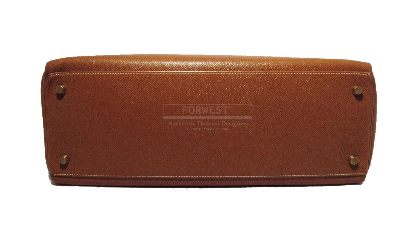 Hermes Camel Epsom Leather 35cm Kelly Bag