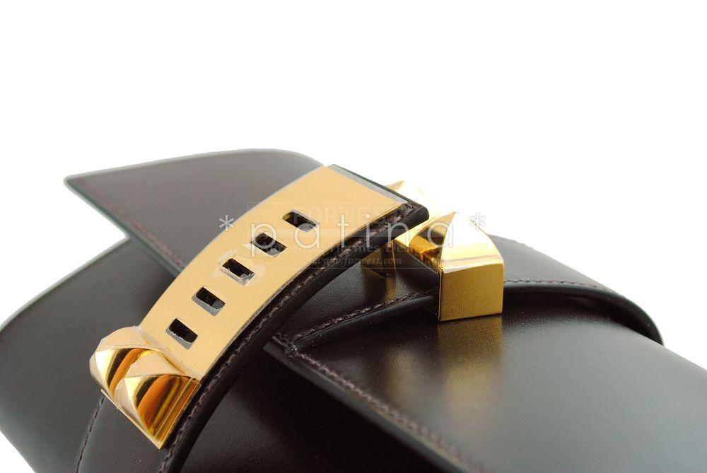 hermes leather clutch
