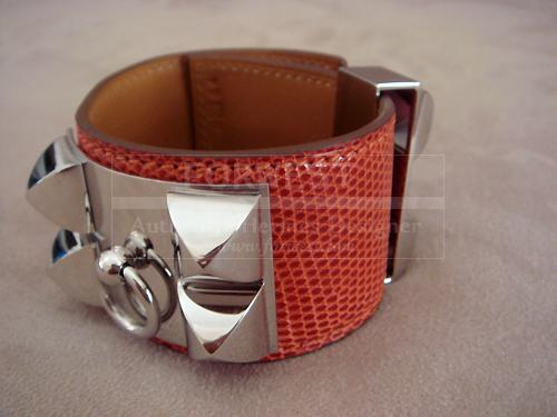 Hermes Collier De Chien Sanguine Lizard Cdc Bracelet Nib Authentic