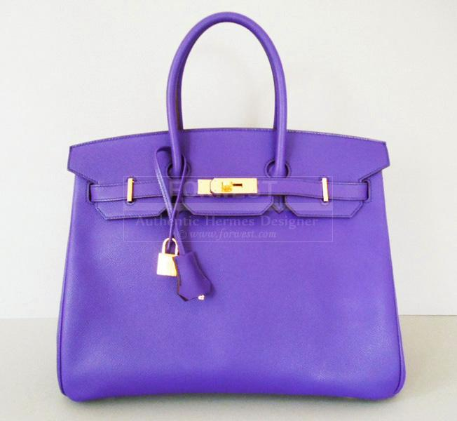 Hermes Crocus Birkin Bag 35 Gold Hardware Epsom Ghw New Authentic