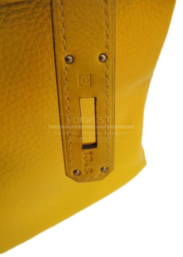Hermes Curry Yellow Togo Leather 35cm Birkin