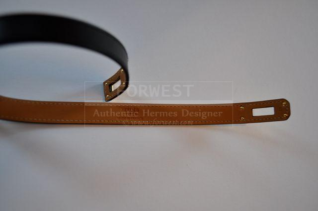 Hermes Double Tour Bracelet Black With Gold Small