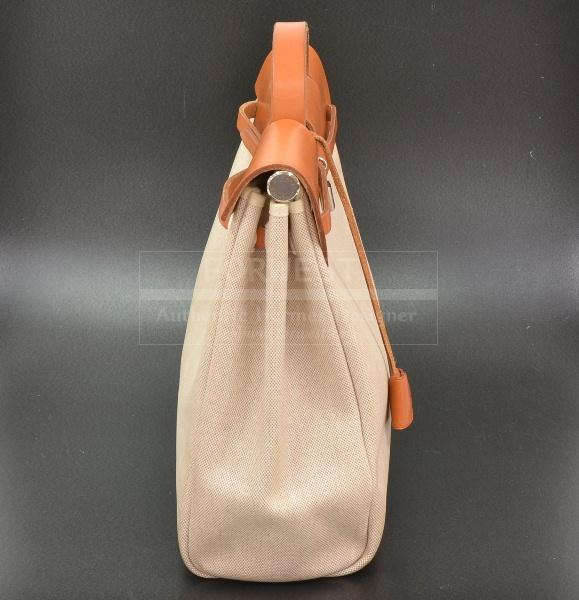 Hermes Herbag 2 In 1 Beige Canvas Sand Leather Backpack H348