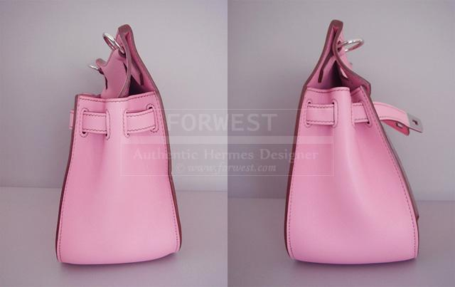 Hermes Jypsiere Bag Kelly Inspired PM 5p Pink Phw Crossbody Auth