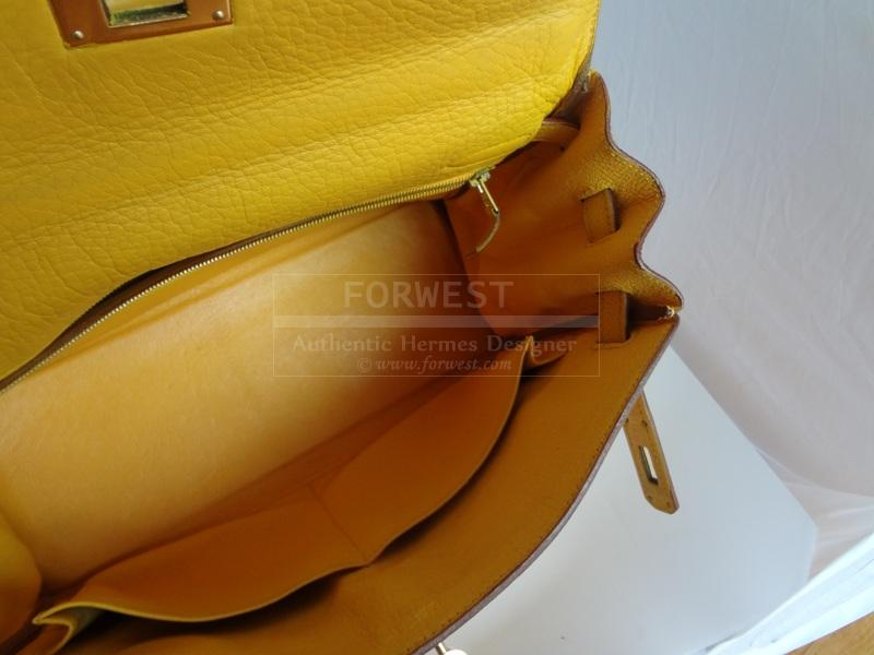 Hermes Kelly 32 Taurillon Clemence Yellow Gdhw