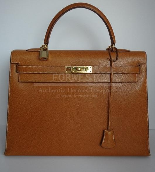 Hermes Kelly 35 Gold Pecari