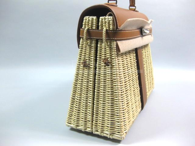 black and hermes brown bag - Hermes Kelly 35 Picnic Barenia and Bast-$29995.0000