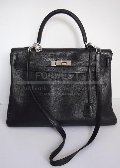 Hermes Kelly 35 Taurillon Clemence Black