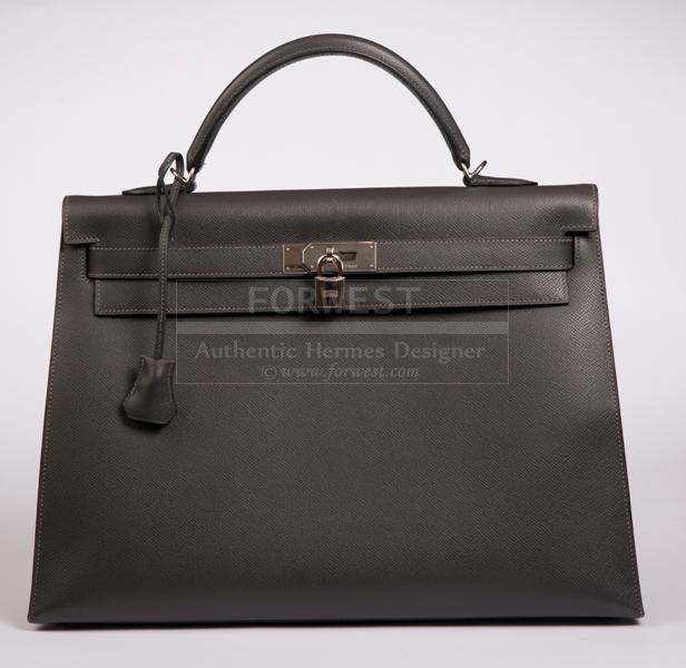 Hermes Kelly 40 Grey Year X