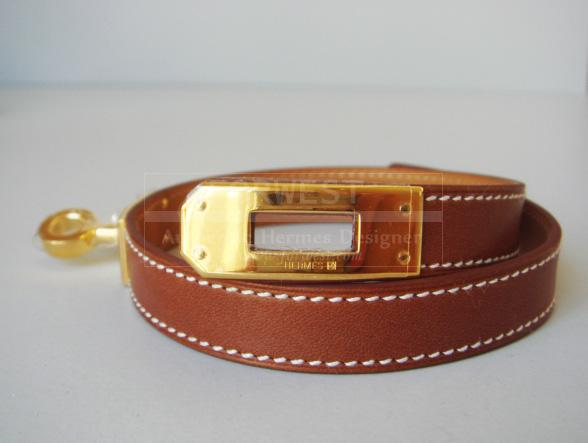 Hermes Kelly Double Tour Bracelet Gold Hardware Barenia New Auth