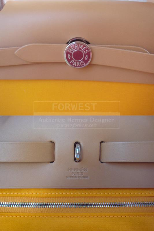 Hermes Kelly Herbag Jaune Dor Feu Candy Zip PM 2012 New Authentic