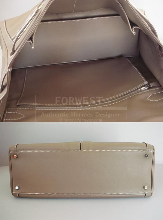 Hermes Kelly Lakis Bag Etoupe 40 Palladium Hardware Authentic