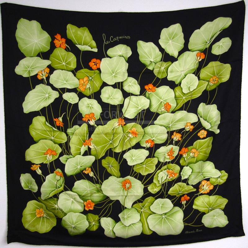 Hermes Les Capucines Silk Carre Scarf