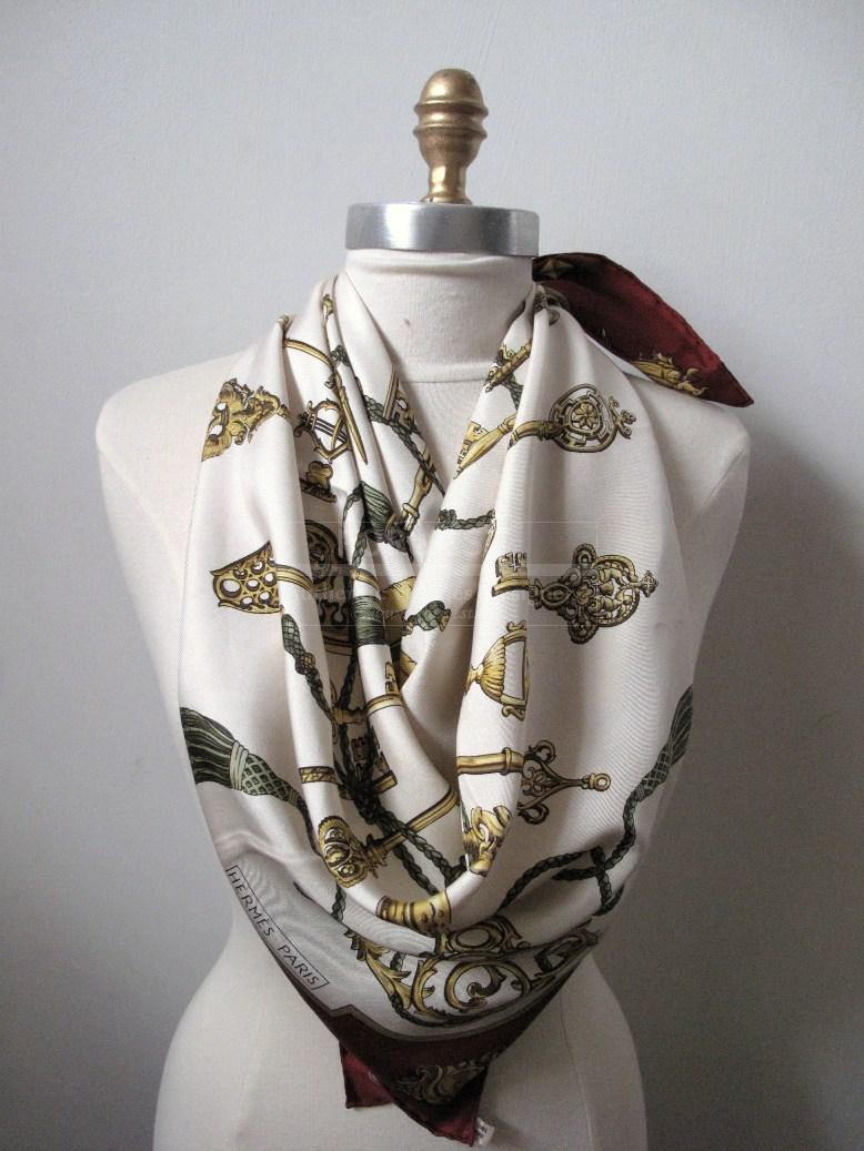 Hermes Les Cles 1965 Silk Scarf