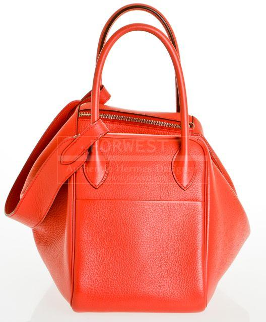 Hermes Lindy Rose Jaipur Clemence 30cm Leather Handbag Nwt