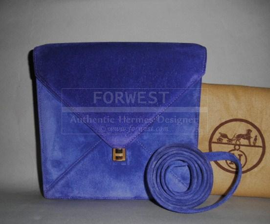 Hermes Marigny Envelope Kelly H Lock Purple Doblis 2 Way Clutch