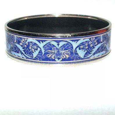 Hermes Mib Lillies Of The Valley Enamel PM Bangle Bracelet