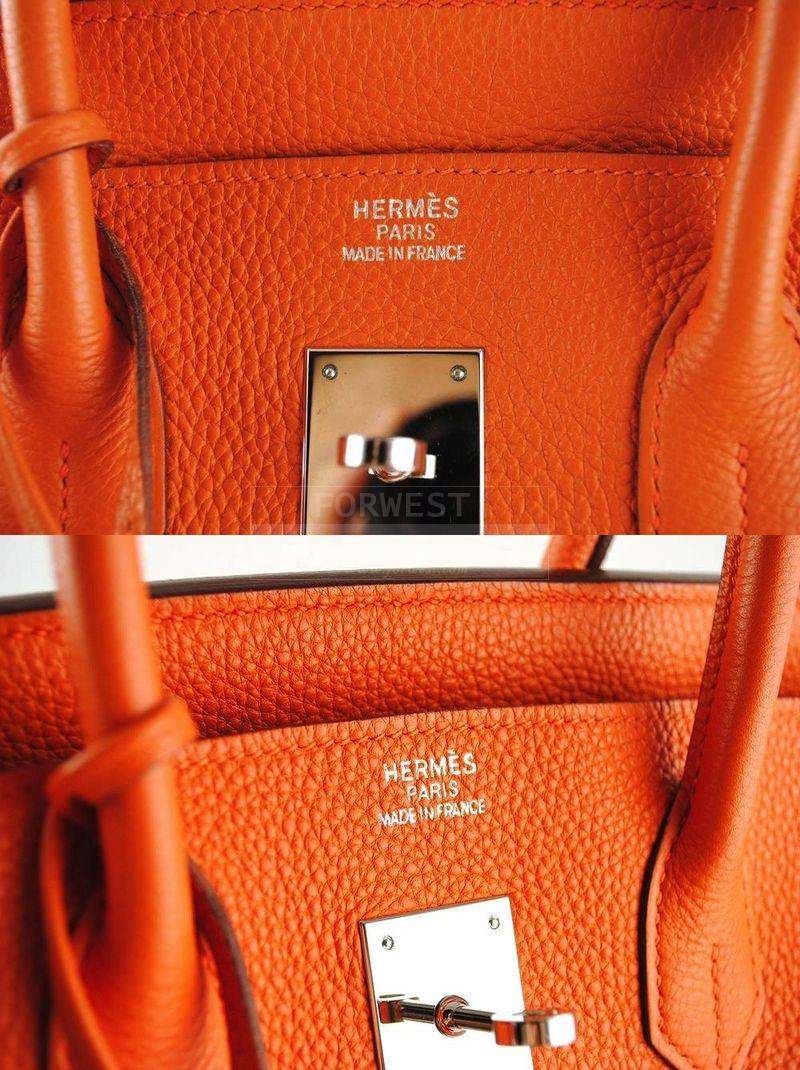 Hermes Orange 35cm Togo Birkin Bag