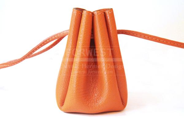 Hermes Orange Leather Pouch