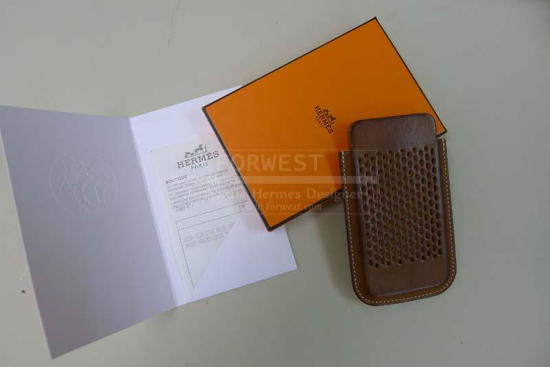 Hermes Paris Iphone 4 Case Barenia Leather Wonderful Patina