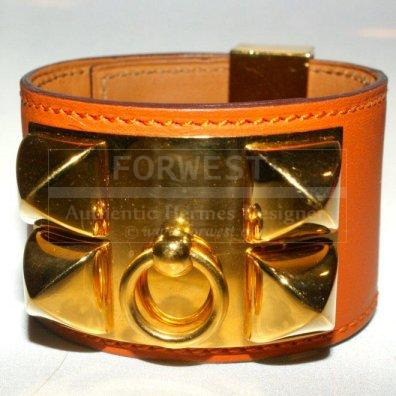 Hermes Rare Pompeian Red brick Ghw Leather ltcollier De Chien gt