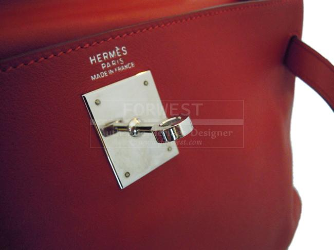 Hermes Red Swift Leather Kelly 32 Cm Bag