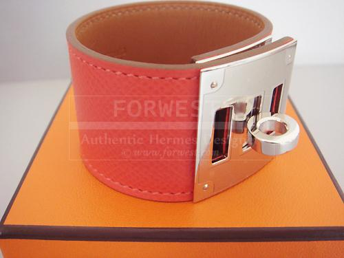 Hermes Rose Jaipur Kelly Dog Bracelet Cuff Phw Pink Nib Authentic