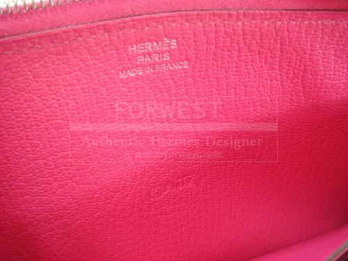 Hermes Rose Tyrien Evelyne H Clutch Pink Long Wallet Candy Nib Auth