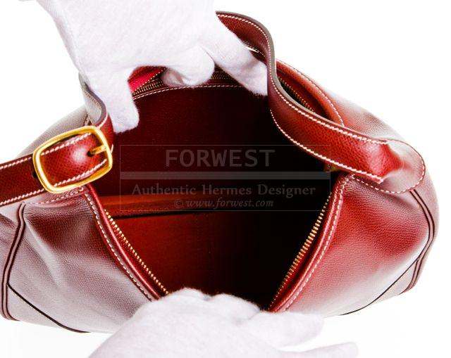Hermes Trim 31cm Rouge H Epsom Leather Hobo Handbag-$2695.0000