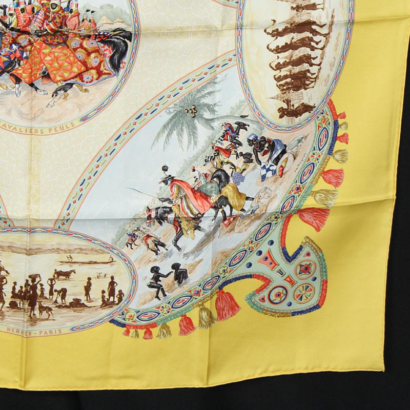 New Authentic Hermes Scarf Cavaliers Peuls