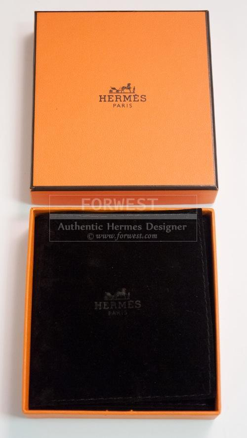 New Hermes Black and Brown Lacquered Earrings
