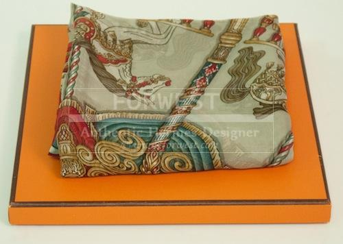 New In Box Hermes Muslin Red Scarf