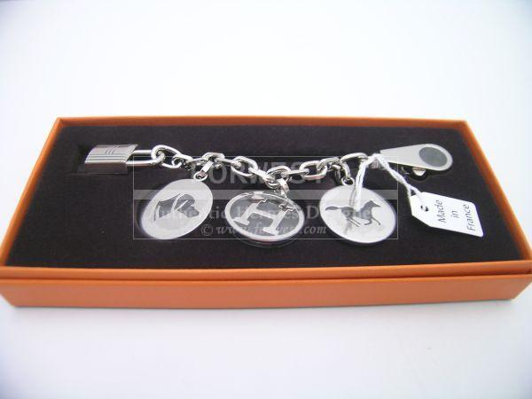 hermes inspired bag - Nib Auth Hermes Palladium Breloque Handbag Charm Key Chain-$700.0000