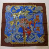 Absolutely Amazing Authentic Hermes Art Des Steppes Silk Carre